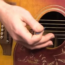 downpicking guitar technique