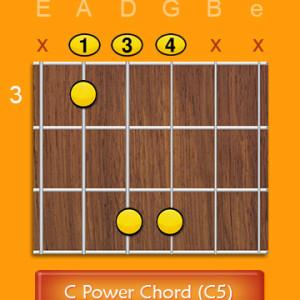 c Power chord c5