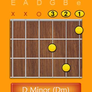 D Minor Chord Open