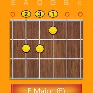 E Major Chord Open
