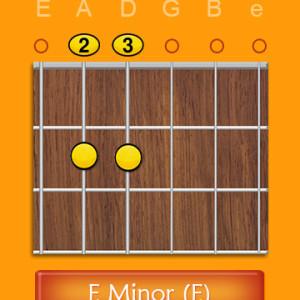 Open Em e minor chord